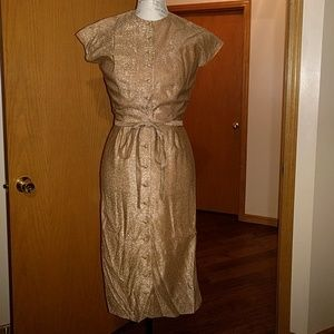 Vintage gold shimmy dress